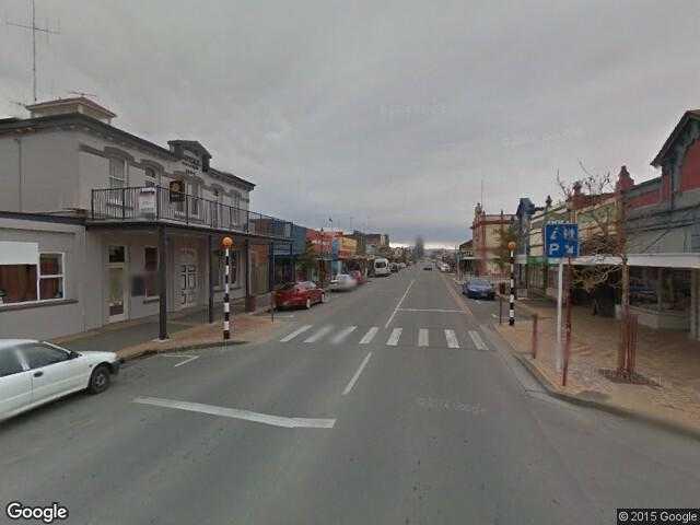 Street map Christchurch New Zealand