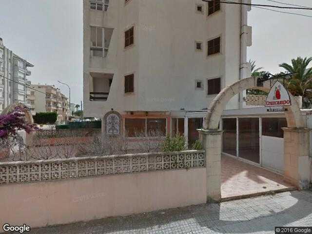 Google Street View Cala BonaGoogle Maps Spain